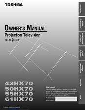 toshiba 50hx70 manuals rh manualslib com Toshiba 50L5200U Calibration Toshiba 50L5200U Specs
