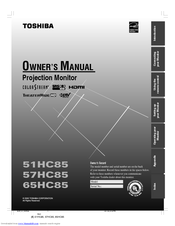 toshiba theaterwide 51hc85 owner s manual pdf download rh manualslib com Toshiba Laptop Service Manual Toshiba TV Service Manual