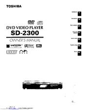 toshiba sd 2300u owner s manual pdf download rh manualslib com Toshiba Manual PDF Manual for Toshiba TV 43L511u18