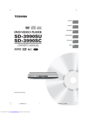 Toshiba 3990 - SD DVD Player Owner's Manual