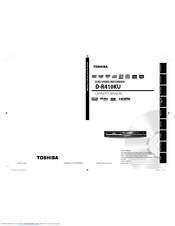 toshiba d r410 manuals rh manualslib com 6.5Hp Tecumseh Engine Manual Toshiba TV Owners Manual