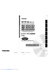 Toshiba RD-KX50SU User Manual