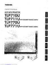 Toshiba TLP-770 User Manual