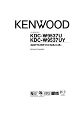 Kenwood KDC-W9537U Manuals