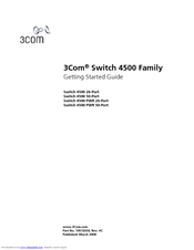 3Com 4500 PWR Getting Started Manual