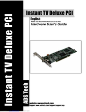 ADS Tech Instant TV Deluxe PCI Driver