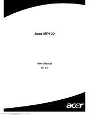 Acer MP-120 256MB User Manual