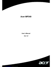 Acer MP340 User Manual