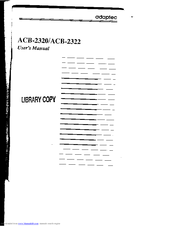 ADAPTEC ACB-2320 DRIVERS WINDOWS 7