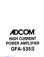 adcom gfa 535ii owner s manual pdf download rh manualslib com adcom gfa-535 ii service manual Adcom GTP-500 II Tuner