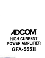 adcom gfa 555ii manuals rh manualslib com Adcom GFA-555 Schematic adcom gfa 555 service manual