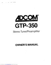 adcom gtp 350 user guide free owners manual u2022 rh wordworksbysea com