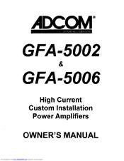 adcom gfa 5006 manuals rh manualslib com adcom gfa-5006 manual Adcom GFA 5500 Specs