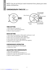 Adidas adizero watch instructions, adidas watches manual.