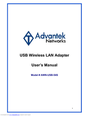 NEW DRIVER: ADVANTEK AWN-USB-54S