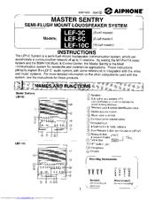 Aiphone LEF-10C User Manual