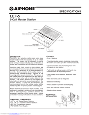aiphone lef-5 manuals | manualslib  manualslib