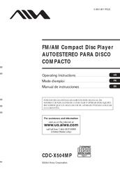 Aiwa CDC-X504MP Manuals on