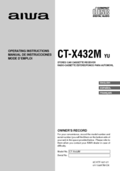 Aiwa CT-X432M Operating Instructions Manual