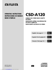 aiwa csd a120 manuals rh manualslib com Aiwa 3-Disc CD Player Aiwa Exos-9