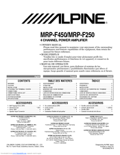 alpine mrp f250 owner s manual pdf download rh manualslib com