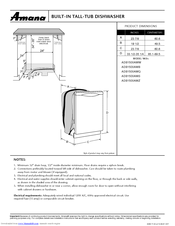 Amana ADB1500AW Supplementary Manual