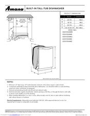 Amana ADB1500AW Supplementary Manual