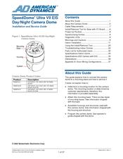 American Dynamics speeddome ultra 8 Manual