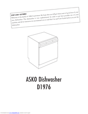 asko d1976 user manual pdf download rh manualslib com Procedure Manual Operators Manual