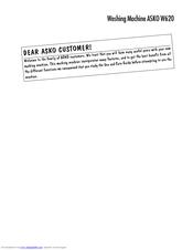 asko w620 manuals rh manualslib com Auto Repair Manual HP Owner Manuals