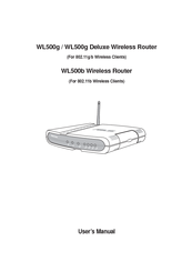 Asus WL-500g Deluxe User Manual