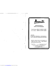 Avanti AVANTI 308YWT Instruction Manual