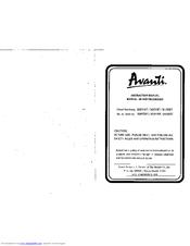Avanti 308YWT User Manual