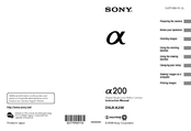 Sony DSLR A200K - a Digital Camera SLR Instruction Manual