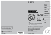 Sony A700K - Alpha 12.24MP Digital SLR Camera User's And Troubleshooting Manual