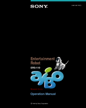 Sony ERS-110 - Aibo Entertainment Robot Operation Manual
