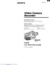 sony handycam video hi8 user manual