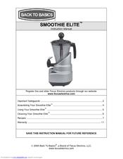 back to basics smoothie elite se2000 manuals rh manualslib com Back to Basics Smoothie Maker Parts Smoothie Elite Manual