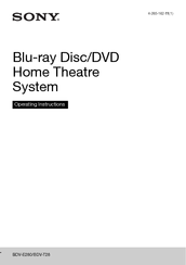 Sony BDV-T28 Operating Instructions Manual