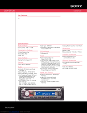 sony gt120 cdx radio cd player manuals rh manualslib com sony cdx-gt120 installation manual Sony Car Stereo Wiring Guide