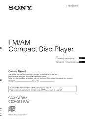 sony cdx gt35uw fm am compact disc player manuals rh manualslib com Sony Xplod Wiring Color Code Sony Xplod Stereo Wiring Diagram