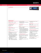 Sony GT520 - CDX Radio / CD Specifications  sc 1 st  ManualsLib : sony cdx gt56uiw wiring diagram - yogabreezes.com