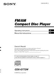 mb type pdf document service manual brand device car audio file cdx-gt720- cdx-gt72w-cdx-gt770  sony cdx gt72w