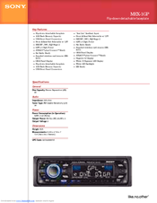 sony mex 1gp giga panel radio manuals