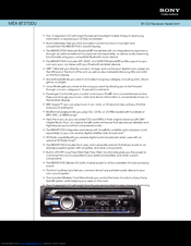 sony mex bt3700u manuals rh manualslib com Sony Xplod Amp Wiring Diagram Sony Xplod Wiring Color Diagram