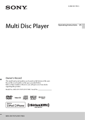 Sony MEX-DV1707U Operating Instructions Manual