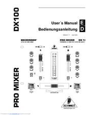 behringer pro mixer dx100 manuals rh manualslib com behringer qx1202usb mixer manual behringer mixer manual