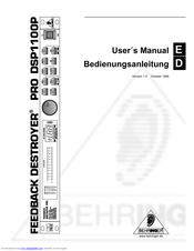 behringer virtualizer pro dsp1000p manual