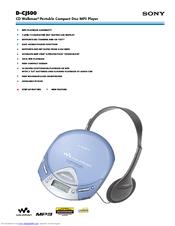 Sony CD Walkman D-CJ500 Manuals