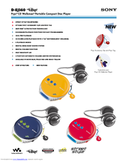 Sony D-EJ360 - PSYC CD Walkman Manuals